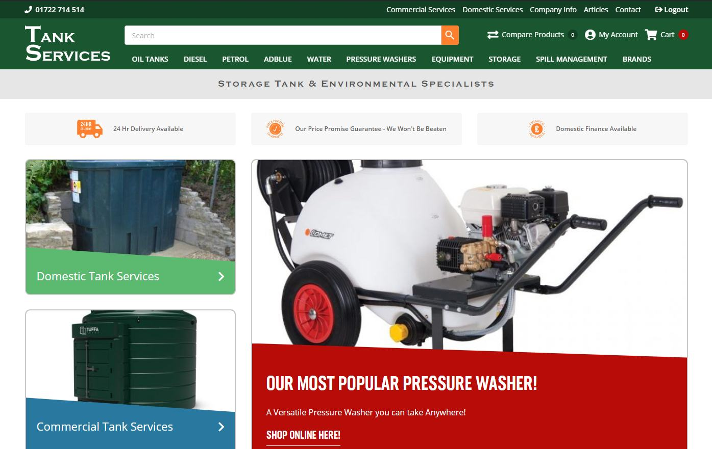 Tank Services New Website